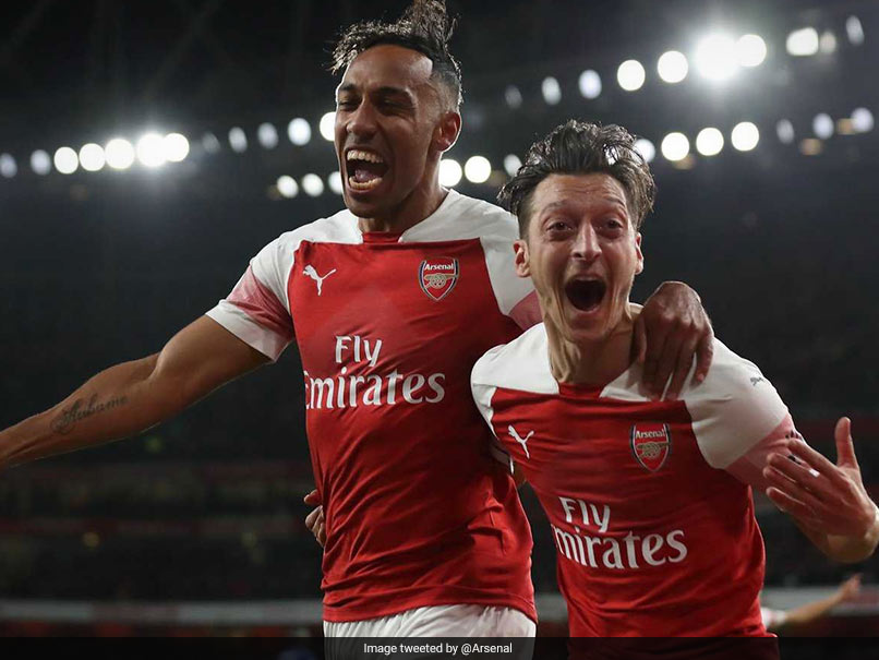 Premier League: Pierre-Emerick Aubameyang, Mesut Ozil Star As Arsenal Make It Perfect 10