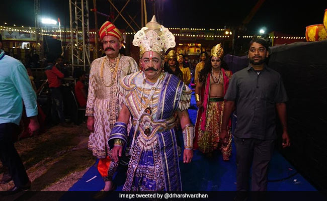 A Moustache And In Royal Attire, Harsh Vardhan Is King Janak In Ramleela