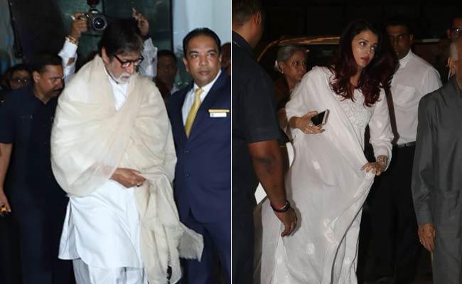 Amitabh Bachchan, Aishwarya And Other Stars Join Family At Krishna Raj Kapoor's Prayer Meet