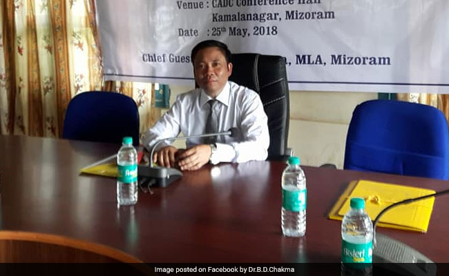 Ex-Mizoram Minister Buddha Dhan Chakma Resigns From Congress, To Join BJP