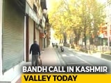 Video : Shutdown In Kashmir Today Over Death Of 7 Civilians At Encounter Site