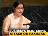 "Video : ""Talks With Pak Failed Because Of Its Actions"": Sushma Swaraj At UN"
