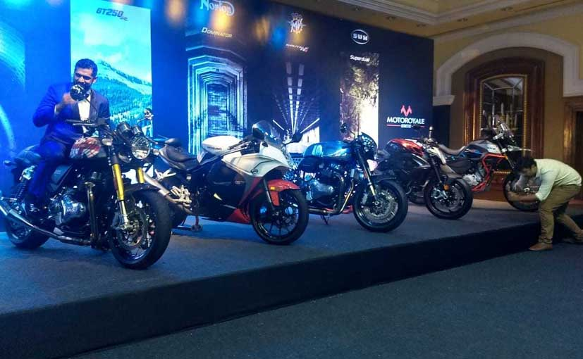 Motoroyale has launched seven motorcycles ranging between 300 cc and 1000 cc.