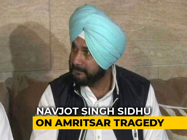 Video : Will Adopt Children Who Lost Parents In Amritsar Tragedy: Navjot Sidhu