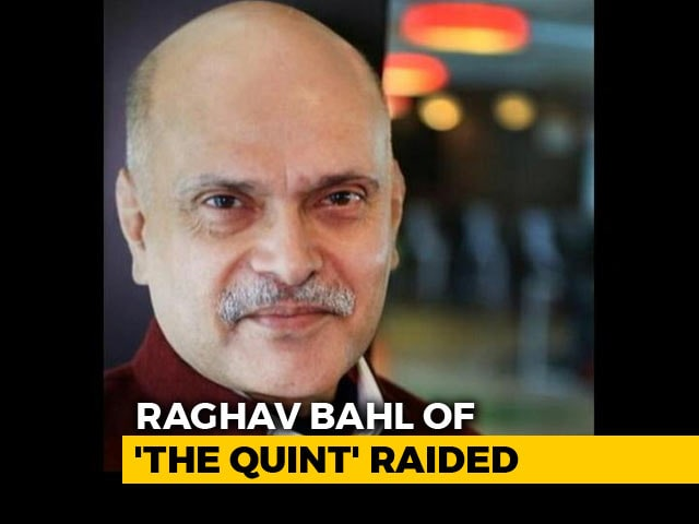 Video : Tax Raids At Media Baron Raghav Bahl's Noida Home, 'The Quint' Office