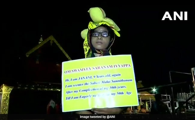 'Will Visit After 50': 9-Year-Old Girl With Placard At Sabarimala