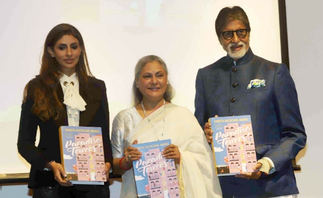 Amitabh And Jaya Bachchan Cheer For Daughter Shweta At Her Book Launch