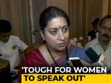 "Video : On MJ Akbar, Smriti Irani Says: ""Media Accosting His Female Colleagues"""