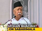Video : Amid Protests, Violence At Sabarimala, A Message From Mohan Bhagwat