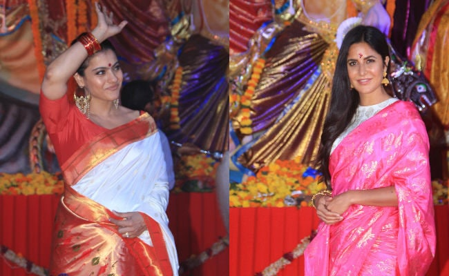 Durga Puja 2018: Katrina Kaif, Kajol, Mouni Roy Get Into Festive Mode