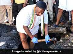Puducherry Chief Minister Gets His Hands Dirty, Video Is Viral