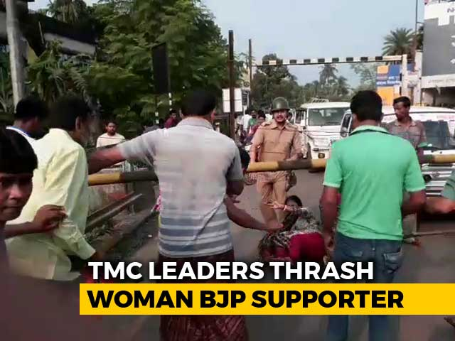 Video : Caught On Camera: Trinamool Leaders' Attacks On Woman BJP Supporter