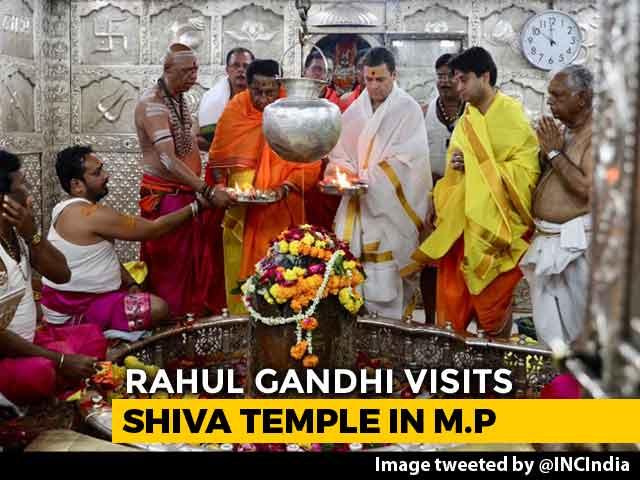 Video : 'What's Your <i>Gotra</i>,' BJP Asks As Rahul Gandhi Visits Mahakaleshwar Temple