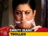 "Video : Trolled For ""Sanitary Pad"" Comment, Smriti Irani's Insta Retort"