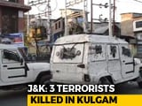 Video : 3 Terrorists Shot Dead, 2 Soldiers Injured In Encounter In Kashmir