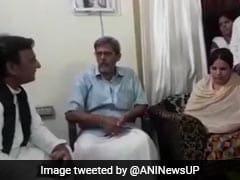 Akhilesh Yadav Meets Family Of Tech Executive Shot Dead By Policeman