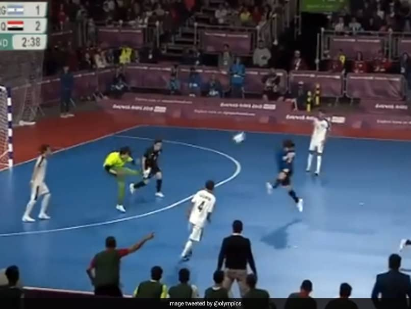 Youth Olympic Games: Iraqi Keeper Scores Sensational Goal Against Argentina In Youth Olympic Games. Watch