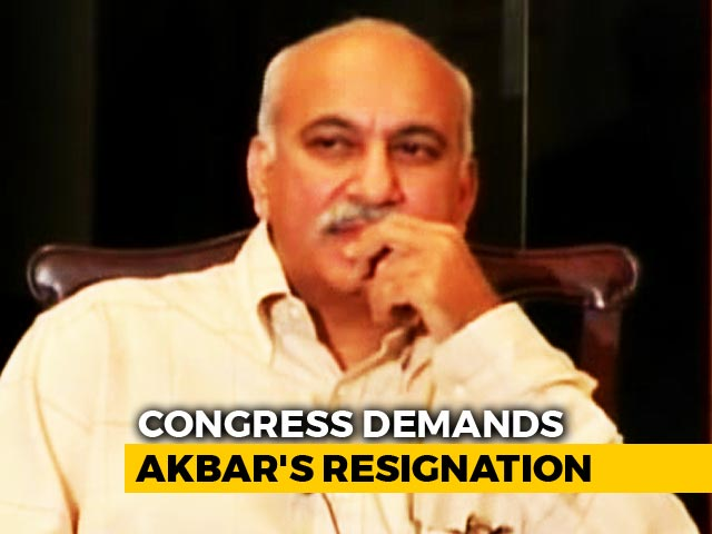 Video : Minister MJ Akbar, Accused Of Sex Harassment, Should Quit, Says Congress