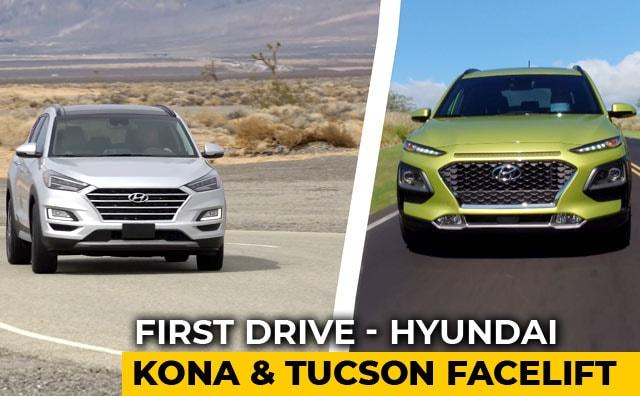 Hyundai Kona & Tucson Facelift: First Drive