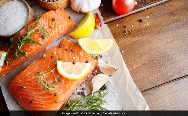 Fatty acids in salmon help in production of collagen as well as protein that help keep our skin healthy and wrinkle free.