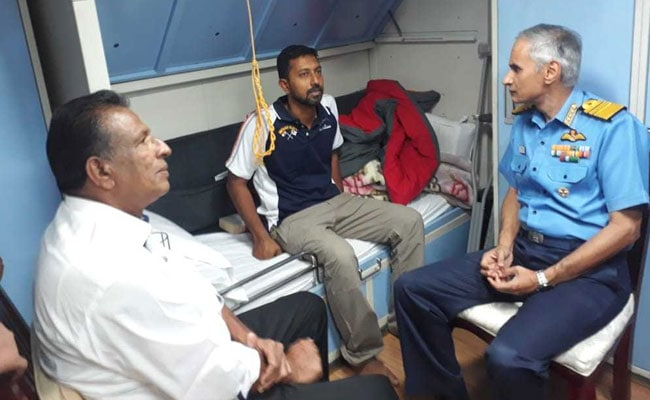 Rescued Navyman Abhilash Tomy Brought Back To India