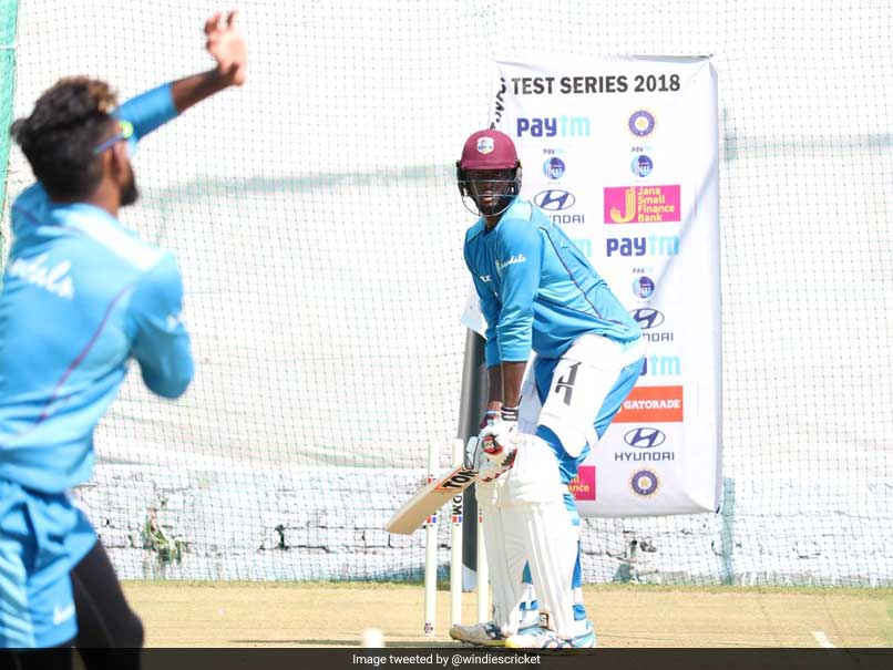 Windies Sweat It Out In Training Session Ahead Of First Test Against India