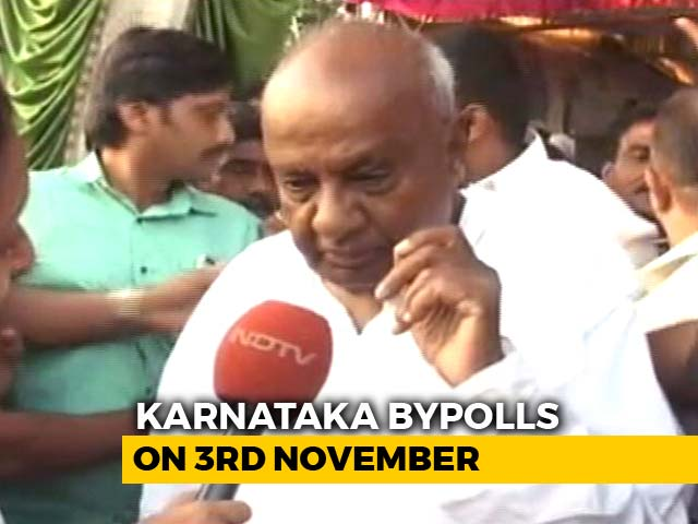 "Video : ""Will Give Message For The Nation"": H D Deve Gowda On Karnataka Bypolls"