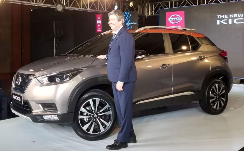 The Nissan Kicks SUV will be positioned above the Terrano in the company's line-up in India