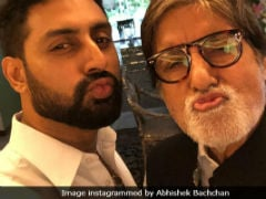 Bachchan Vs Bachchan Photo Battle: After Amitabh Bachchan's 'Sauce' Pic, Abhishek's 'Payback'