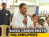 "Video : ""Rafale Contract Is Your Right"": Rahul Gandhi To State-Run HAL Employees"
