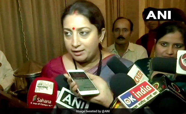 No Role Of Religion In Government, Says Smriti Irani