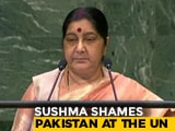 Video : At UN, Sushma Swaraj Launches Blistering Attack On Pakistan