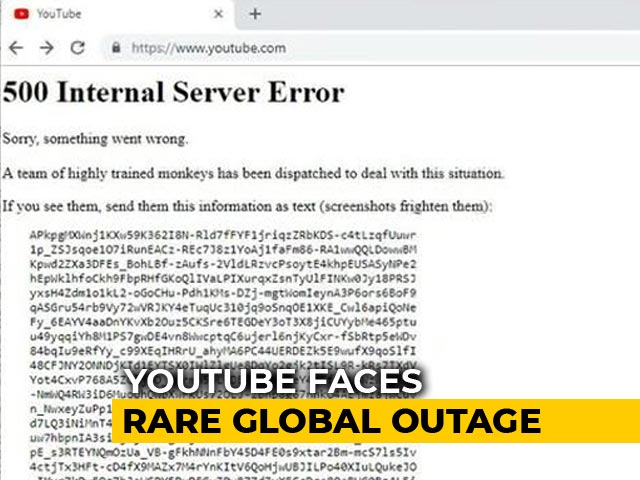 """Video : YouTube Back After Global Outage, Tweets """"Thanks For Your Patience"""""""