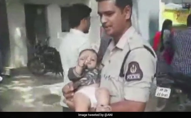 Hyderabad Cops Take Care Of Crying Baby While Mother Takes Exam