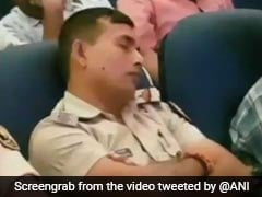 Patna Cops Found Sleeping At Event On Law And Order, Caught On Camera