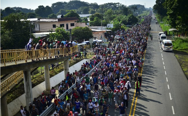 'Full Efforts' Under Way To Stop Migrant Caravan Heading Toward US: Trump