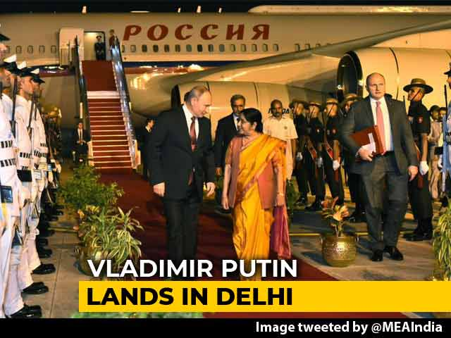 Video : Russia's Putin Arrives In India, Focus On S-400 Missile Deal