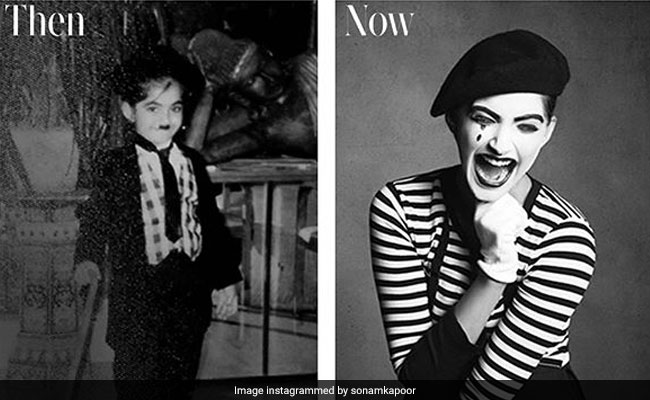 Sonam Kapoor's Then And Now Pic Is A Fabulous Tribute To Charlie Chaplin