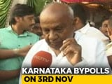 """Video : """"Will Give Message For The Nation"""": H D Deve Gowda On Karnataka Bypolls"""