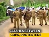 Video : Sabarimala Protesters Throw Stones At Policemen, Lathicharged