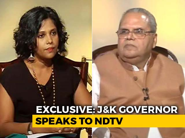 Video : Jammu And Kashmir Local Body Polls A Success, Says Governor Satya Pal Malik