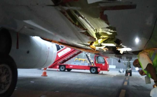 Air India flight hits airport wall before take-off
