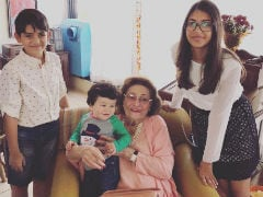 Krishna Raj Kapoor Remembered By Karisma Kapoor With Pic Of Taimur, Samiera And Kiaan