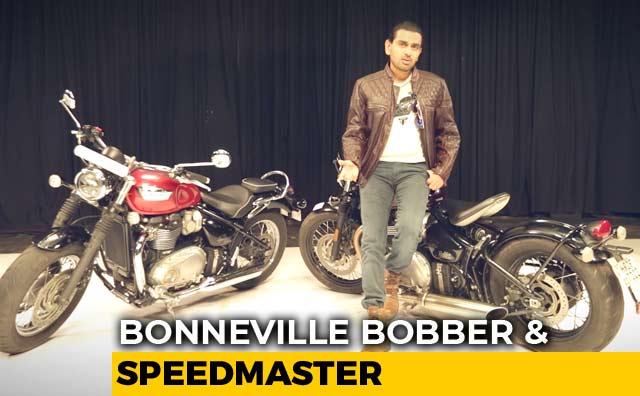 Sponsored: Triumph Bonneville Bobber, Triumph Bonneville Speedmaster