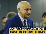 Video : MJ Akbar's Defamation Case Against Journalist Over #MeToo In Court Today