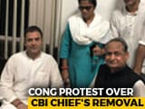 "Video : Rahul Gandhi Protest Against CBI Move Includes ""Sit-In"" At Police Station"