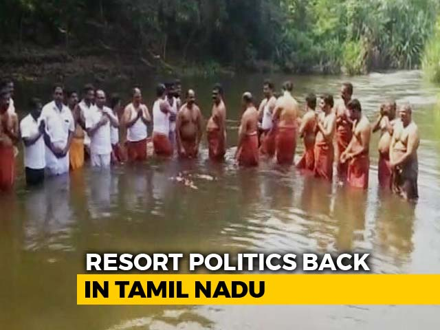 Video : Ahead Of Court Order, Disqualified AIADMK Legislators Moved To Resort