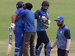 Watch: Fan Invades Pitch, Tries To Kiss Rohit Sharma During Vijay Hazare Trophy Match