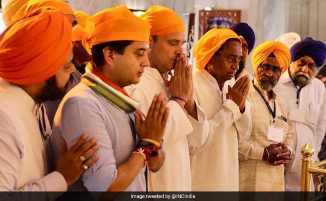 After Temple And Mosque, Rahul Gandhi Visits Gurudwara In Madhya Pradesh