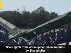 Bridge Collapses Under Weight Of Tourists, They Continue To Cross It